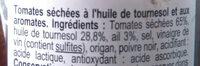 Tomates séchées - Ingrédients - fr