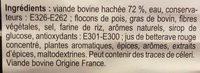 Boulettes au Boeuf - Ingredients