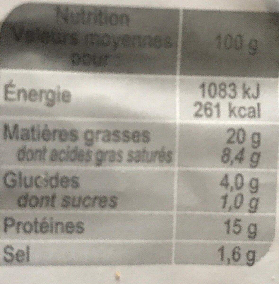 Boulettes Au Boeuf à L'orientale - Informations nutritionnelles - fr