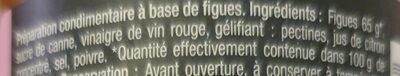 Confit de figues - Ingredientes - fr