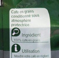 Café en grains Expresso - Ingredients