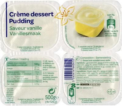Crème dessert Saveur Vanille - Produit - fr