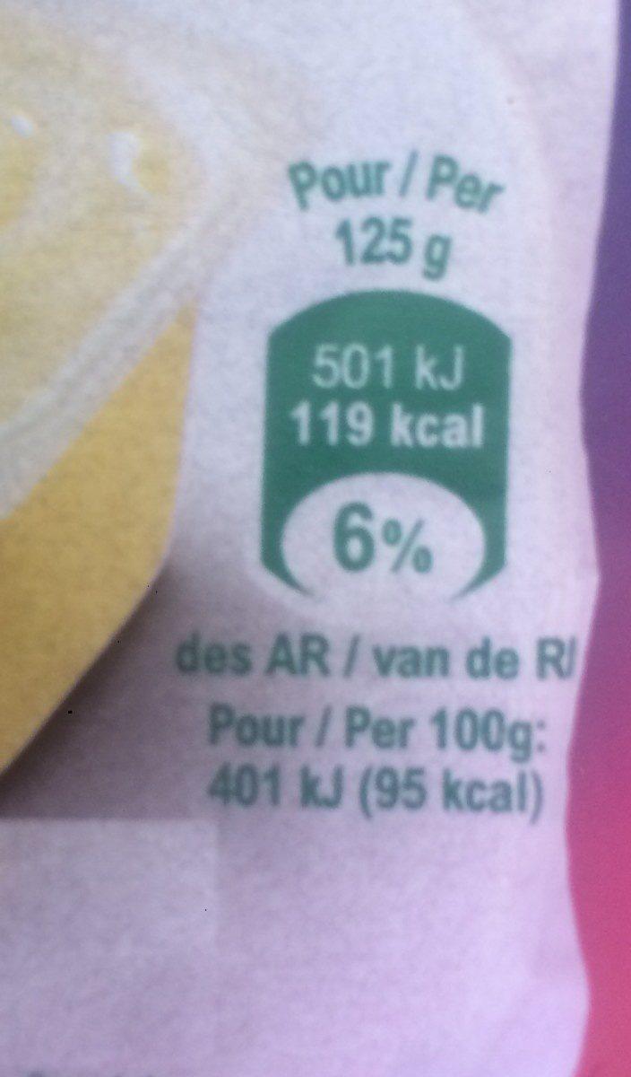 Crème dessert Saveur Vanille - Informations nutritionnelles - fr