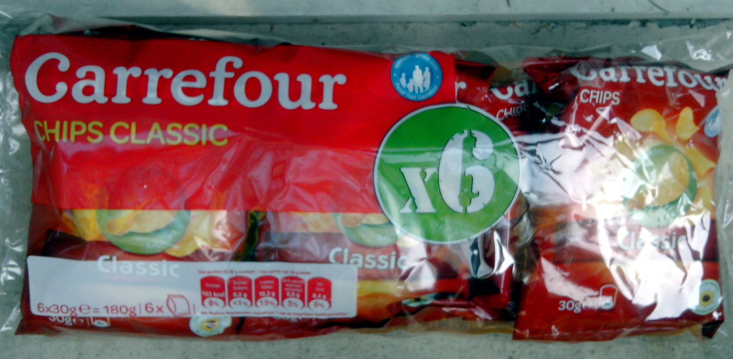 Chips classic (x 6) - Product - fr