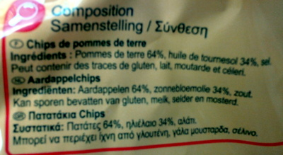 Chips classic (x 6) - Ingredients - fr