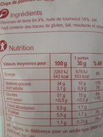 Chips Classic - Ingrediënten