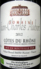 Côtes du Rhône 2012 AOC Bio Domaine Jean-Claude Aubert - Produit