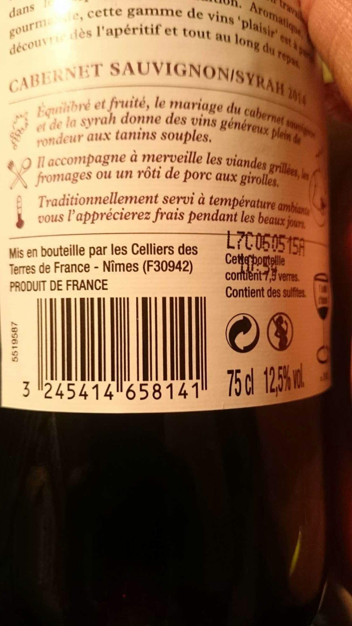 Cabernet Sauvignon/Syrah 2014 - Product