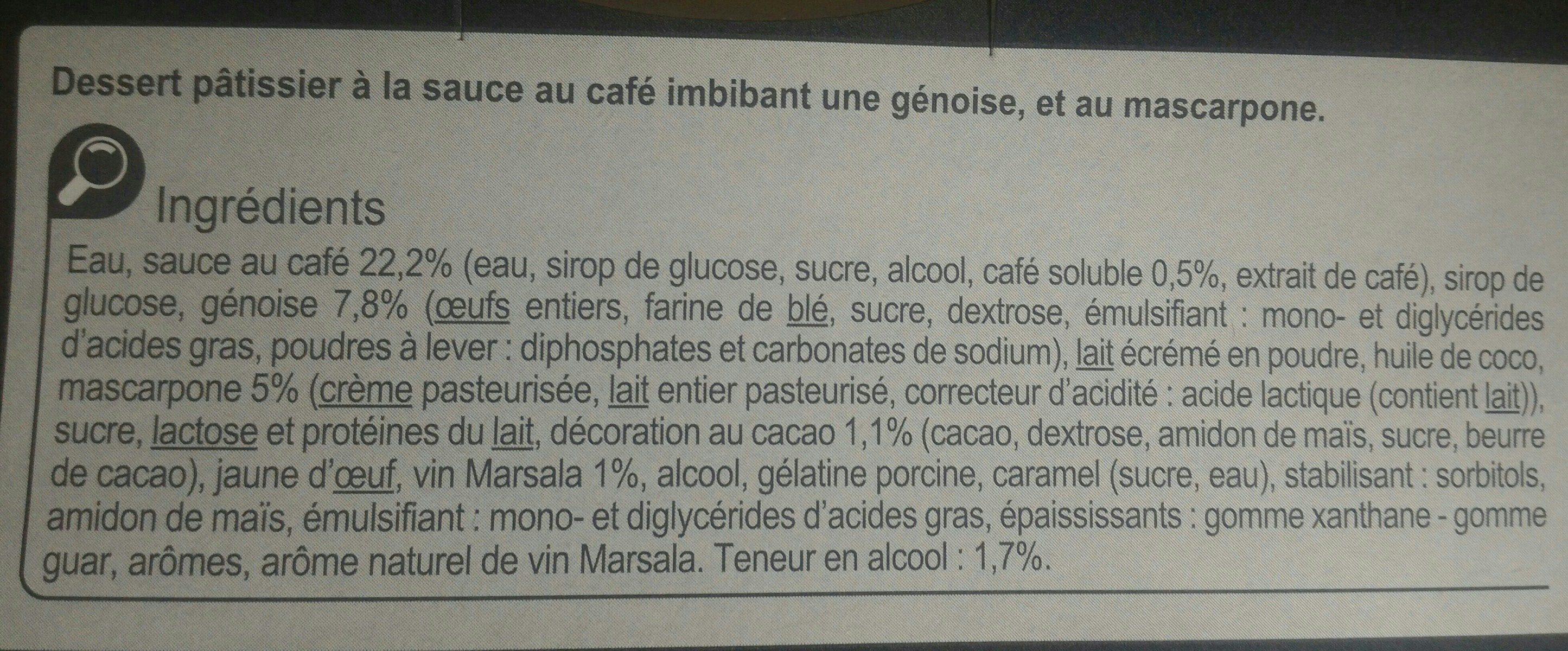 Le Tiramisu - Ingrediënten