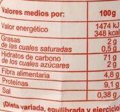 Harina trigo - Informations nutritionnelles - fr