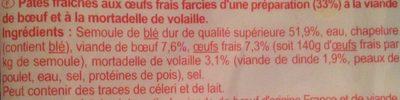 Tortellini Farci de Viande - Ingredienti - fr