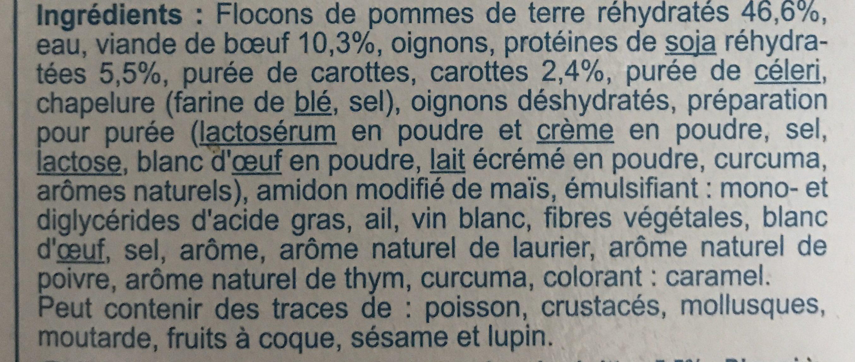 Hachis parmentier - Ingredienti - fr