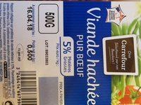 Viande hachee pur boeuf 5% MG - Ingrédients - fr