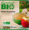Dessert de pommes bio - Produit