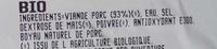 Saucisses de Toulouse - Inhaltsstoffe - fr