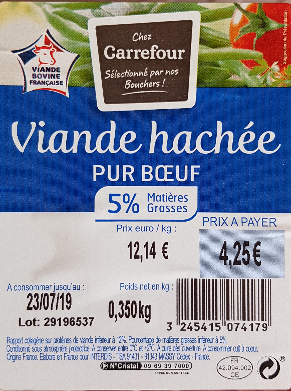 Viande Hachée Pur Boeuf - Ingrediënten