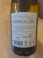 75CL Coteaux Du Layon Blanc - Ingrédients - fr