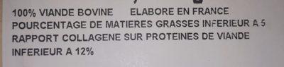 Steaks Hachés 5% - Ingrédients - fr