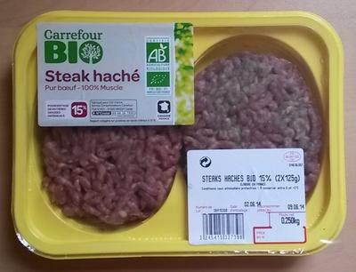 Steak haché pur bœuf 15% MG - Produit - fr