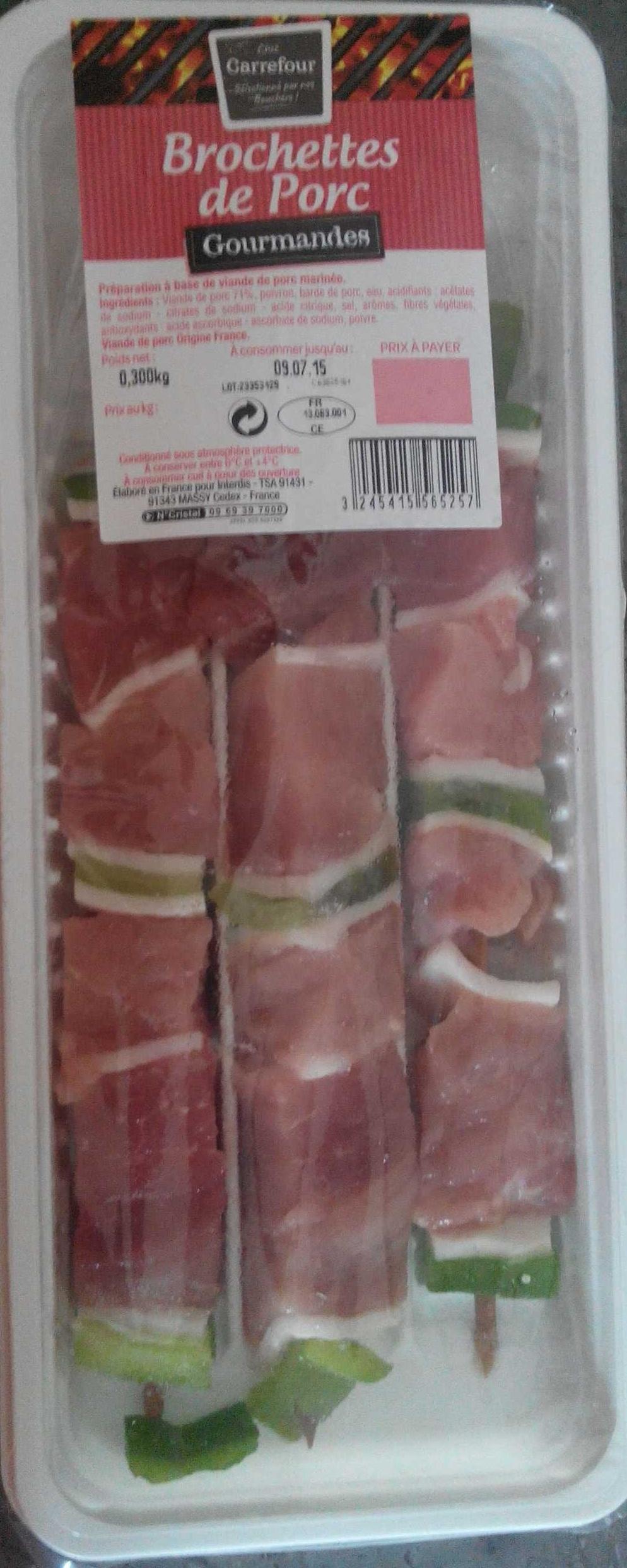 Brochettes de porc gourmandes - Produit