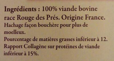 2 steak hachés race Rouge de Près - Ingrediënten