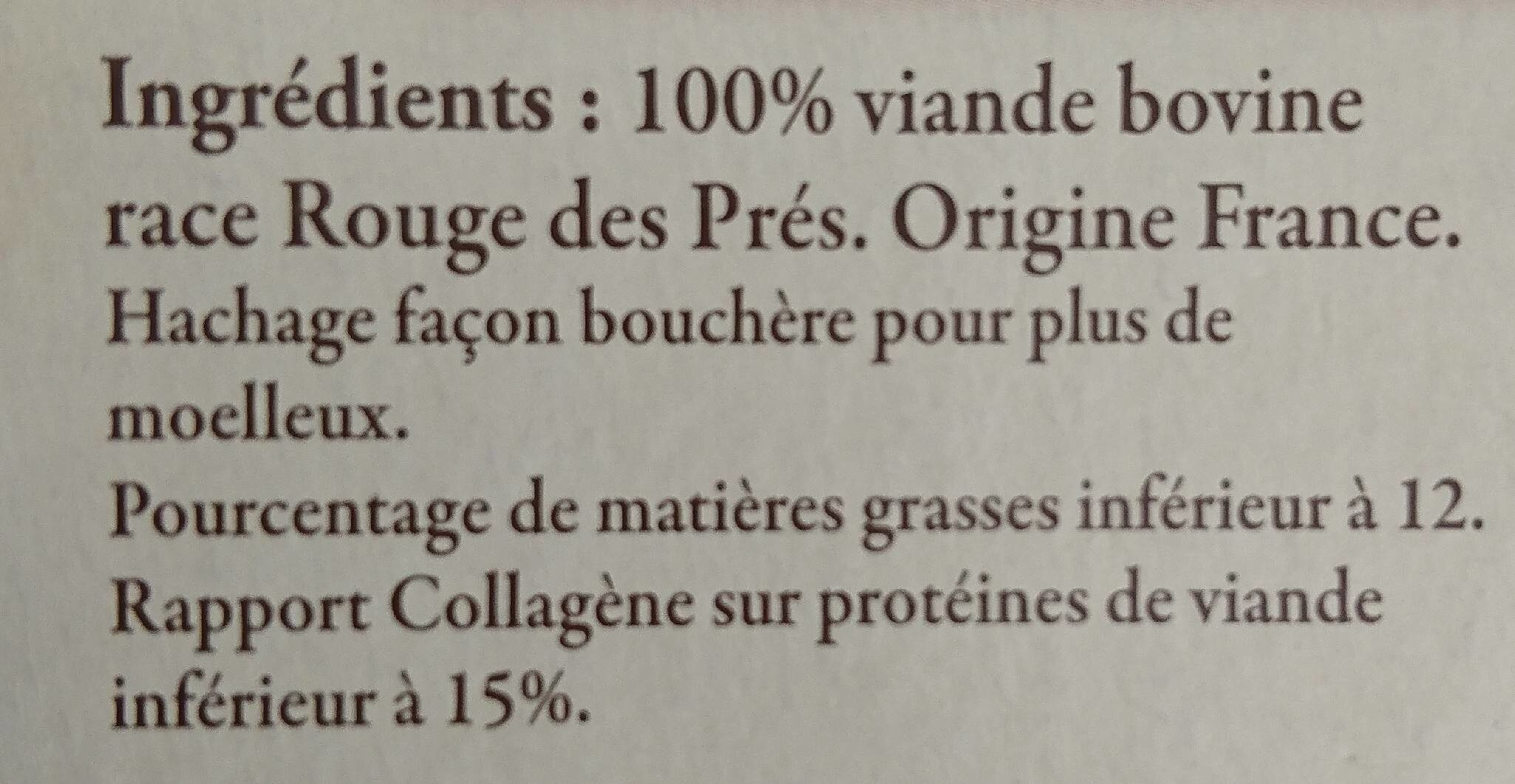 2 steak hachés race Rouge de Près - Voedingswaarden