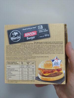 Bacon Crisp Burger - Nutrition facts - fr