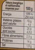 -pulled beef - Informations nutritionnelles - fr