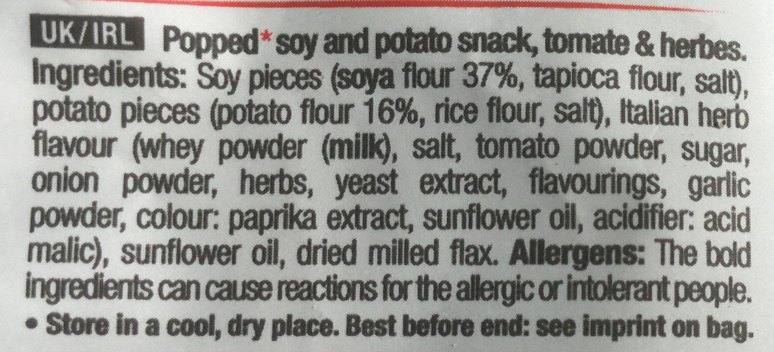 Snack poppé T&H - Ingredients - en