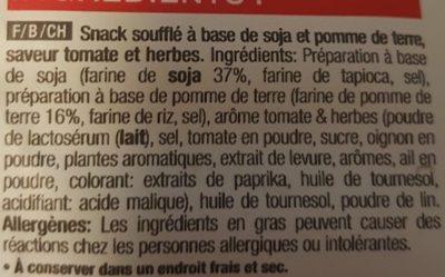 Snack poppé T&H - Ingrédients - fr