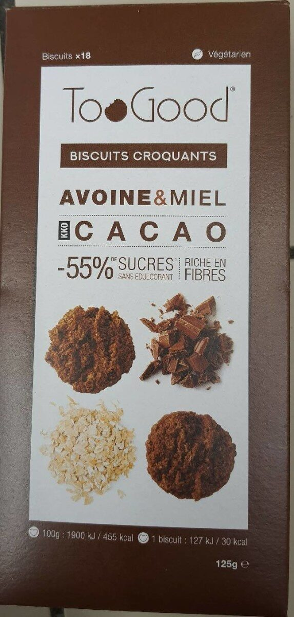 Biscuits croquants Avoine & miel - Product - fr