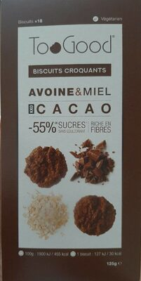 Biscuits croquants avoine & miel cacao - Prodotto - fr