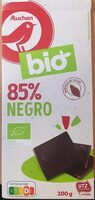 Chocolate BIO Auchan 85% - Product - es