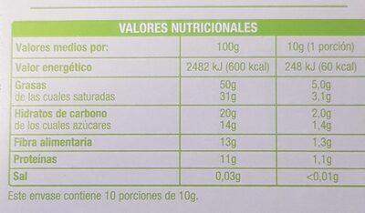 Chocolate BIO Auchan 85% - Voedingswaarden - es