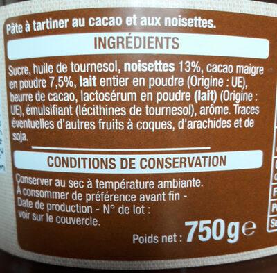 Pasta cao - Ingrediënten - fr