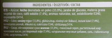 Capupuccino flavor hazelnut - Ingrédients