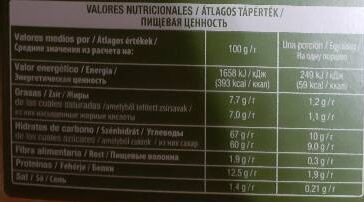 Capupuccino flavor hazelnut - Informations nutritionnelles