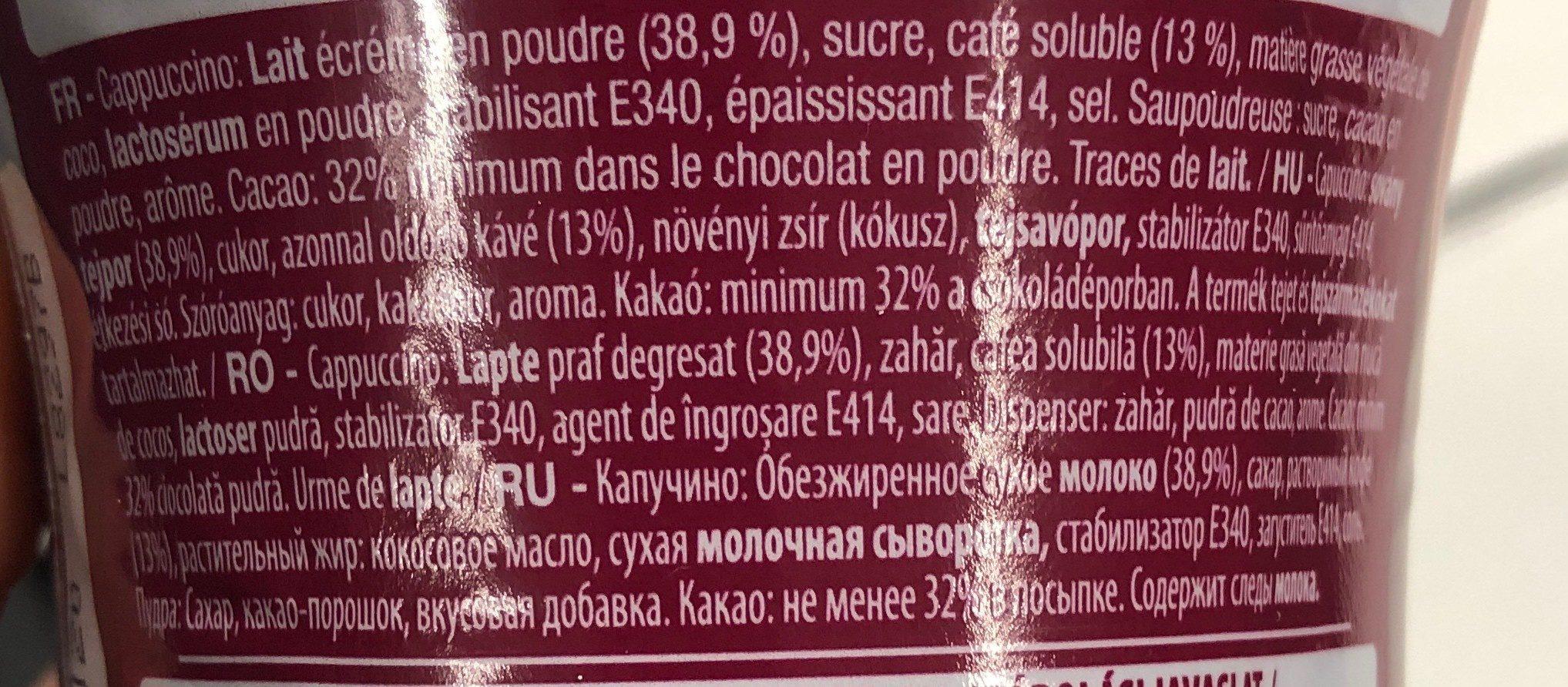 Cappuccino - Ingrédients