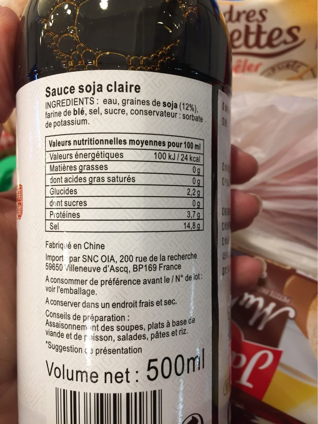 Light soja sauce - Informations nutritionnelles
