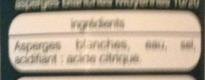 Asperges blanches - Ingrediënten