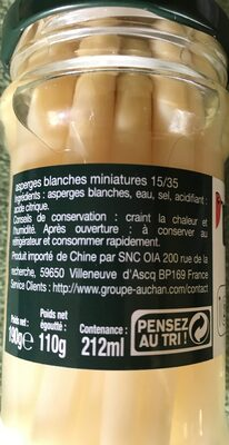 Asperges blanches miniatures - Ingredients