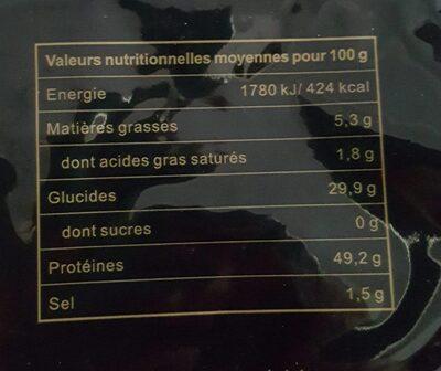 Feuilles de nori - Nährwertangaben - fr