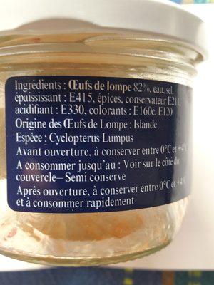 Oeufs De Lompe Rouges - Ingrédients