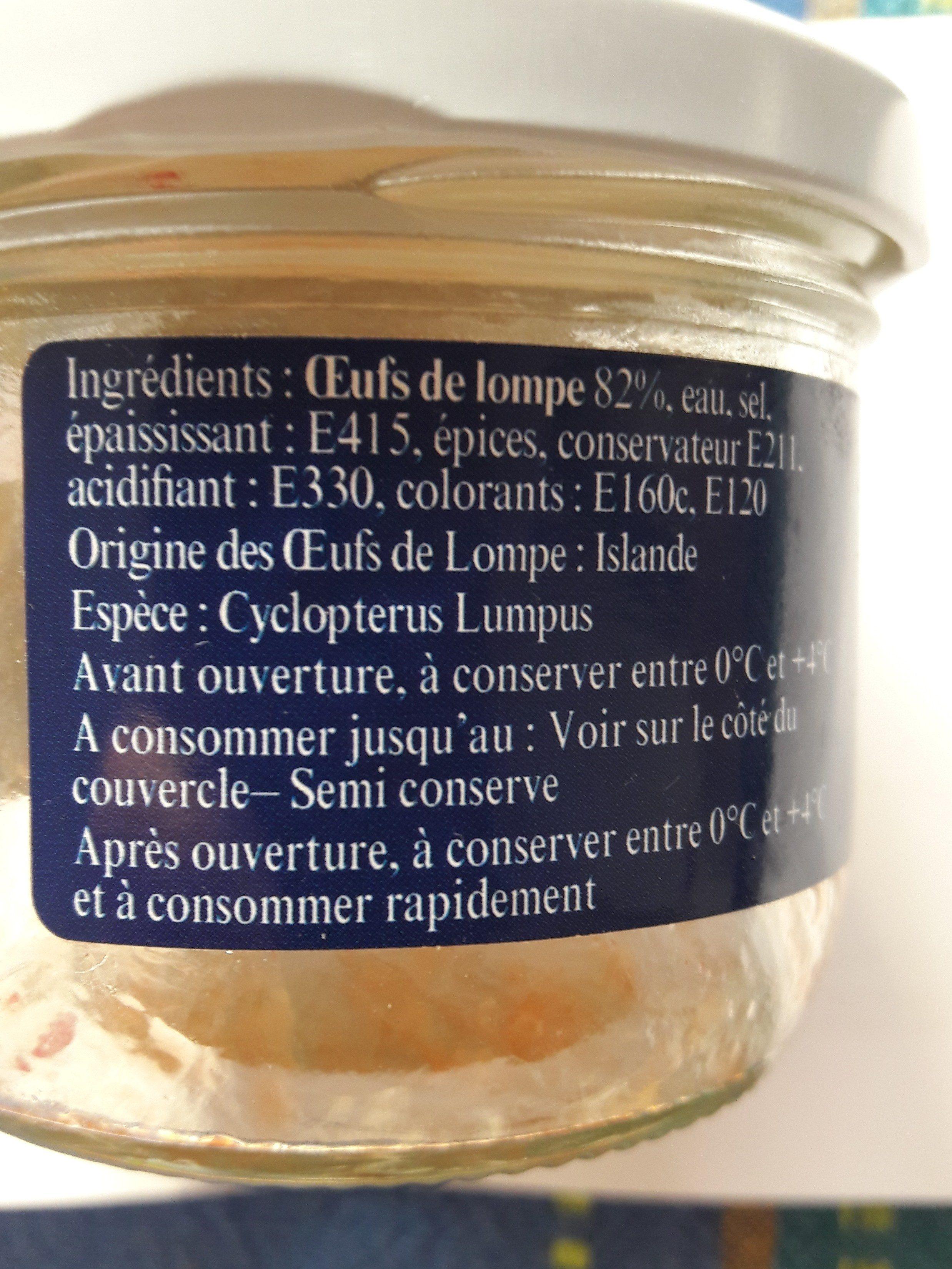 Oeufs De Lompe Rouges - Ingredients - fr