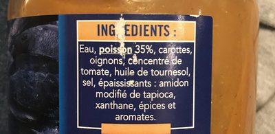 Soupe de poissons - Ingredients - fr