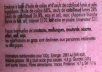 Tarama - Ingredients - fr