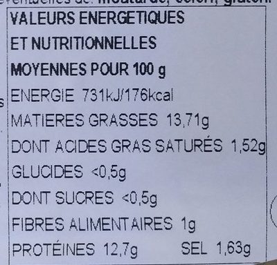 Minis harengs aux olives - Nutrition facts - fr