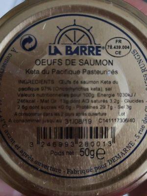 Œufs de saumon keta du pacifique - Product - fr