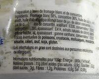 Tzatziki - Nutrition facts - fr