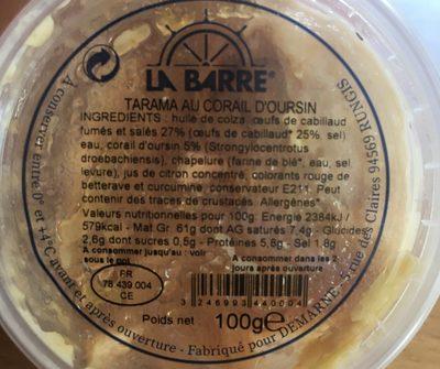 Tarama au corail d'Oursin - Ingredients - fr